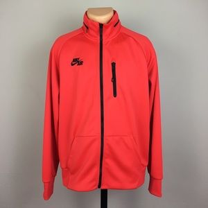 Nike Zip Up Jacket with Hidden Hoodie and Pockets